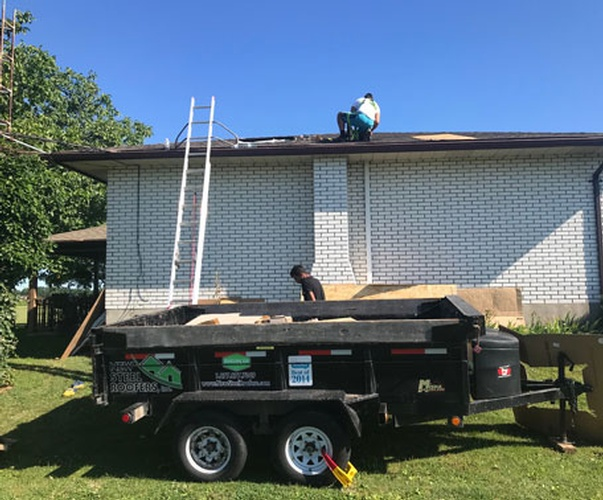 Chimney Removal - During